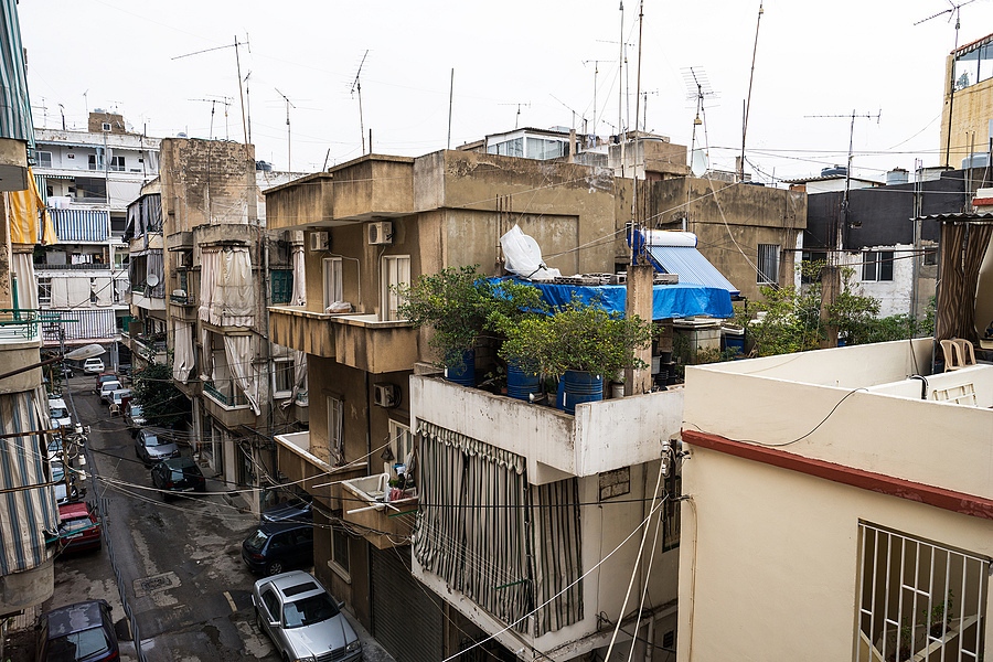 Narrow Street Roofs of Beirut | ZEISS ZA DISTAGON  24MM F2.0 <br> Click image for more details, Click <b>X</b> on top right of image to close