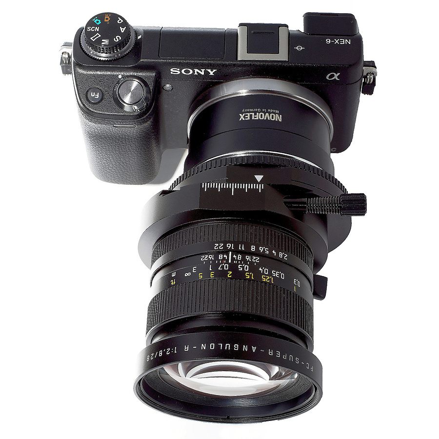 Sony NEX SuperAngulon R 28 PC | LENS MODEL NOT SET <br> Click image for more details, Click <b>X</b> on top right of image to close
