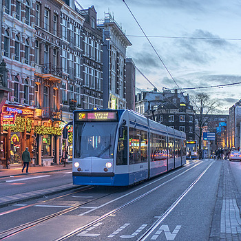 Tram at Leidseplein | LEICA SUMMILUX 35MM F1.4 ASPH <br> Click image for more details, Click <b>X</b> on top right of image to close