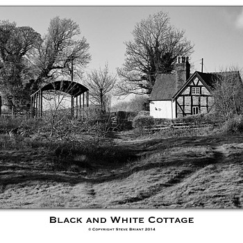 Black and White Cottage | LENS MODEL NOT SET <br> Click image for more details, Click <b>X</b> on top right of image to close