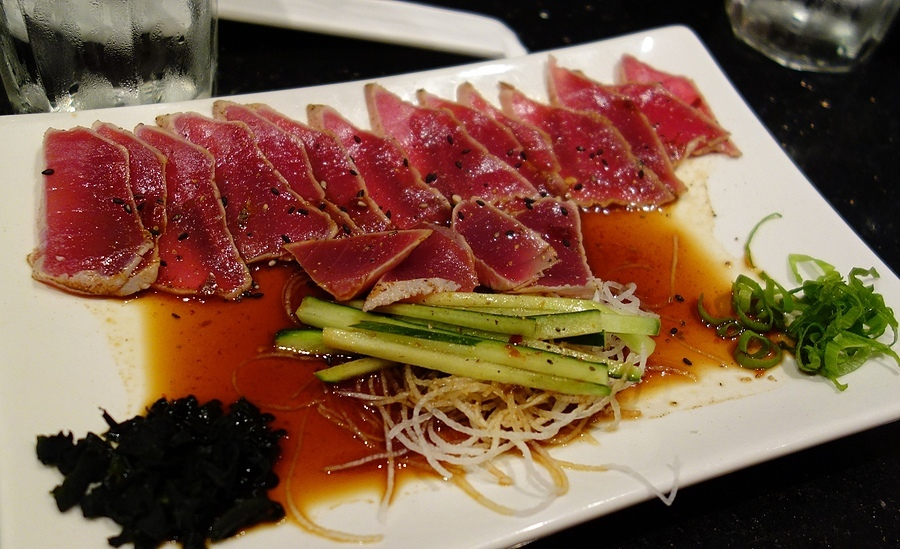 Tuna Tataki with Ponzu Sauce | LENS MODEL NOT SET <br> Click image for more details, Click <b>X</b> on top right of image to close